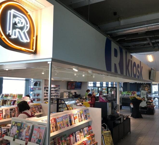 R-Kiosk Lennujaama fuajees